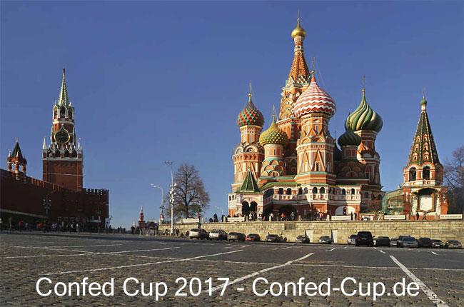 FIFA confed cup Russland 2017: In 4 russischen Städten (im Bild Moskau) findet der FIFA confed cup 2017 statt.