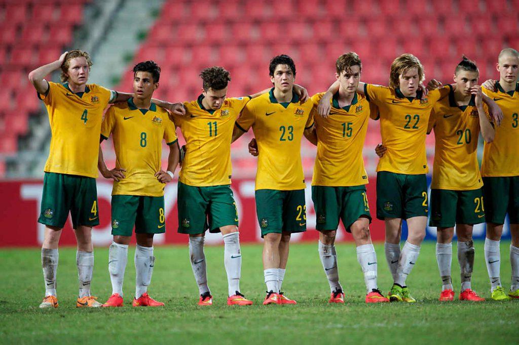 Die Nationalmannschaft von Australien (feelphoto / Shutterstock.com) - gegen Thailand am 15. November 2016 in Thailand.
