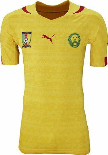 Das Auswärtstrikot von Kamerun von Puma zur WM 2014!