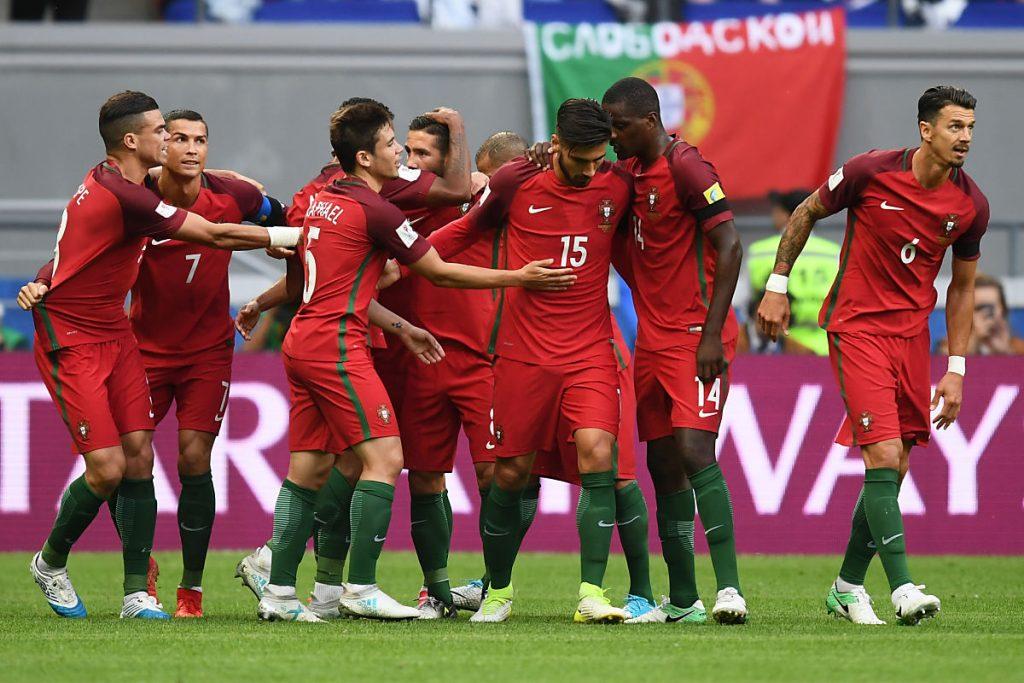 Zu früh gefreut? Portugal geht beim Auftaktspiel zwei Mal in Führung, spielt aber dennoch nur 2:2 gegen Mexiko. Foto AFP