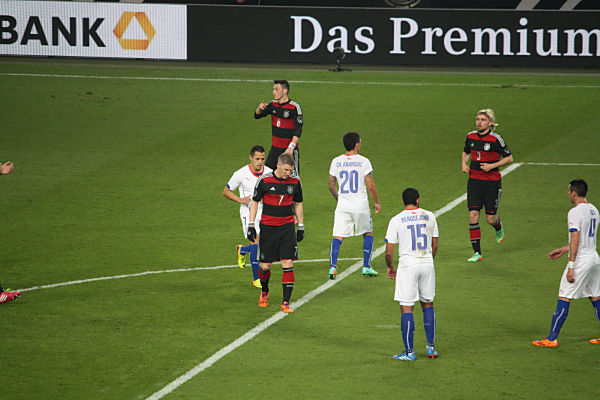 Deutschland gegen Chile in Stuttgart im März 2014 - Deutschland gewinnt 1:0. (Quelle: eigenes Archiv)