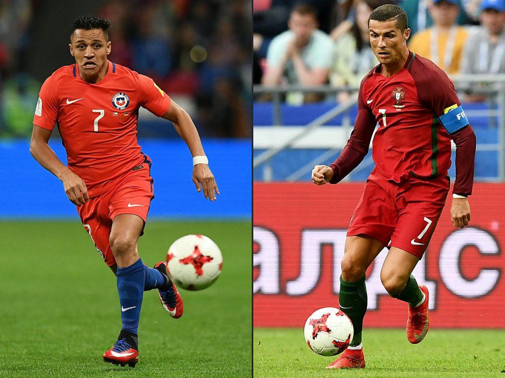 Chile gegen Portugal, das heißt auch Alexis Sanchez gegen Christiano Ronaldo! / AFP PHOTO / FRANCK FIFE